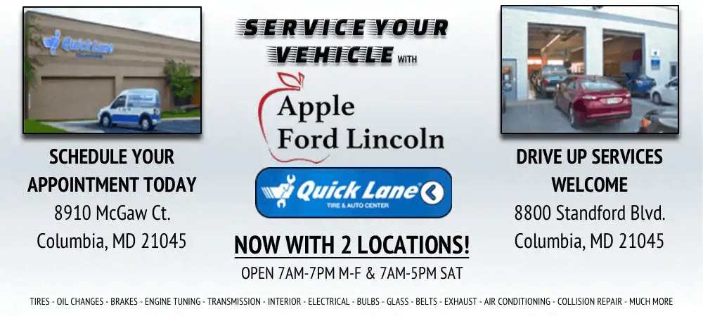 Apple Ford Columbia >> Apple Ford Lincoln Quick Lane Service Center